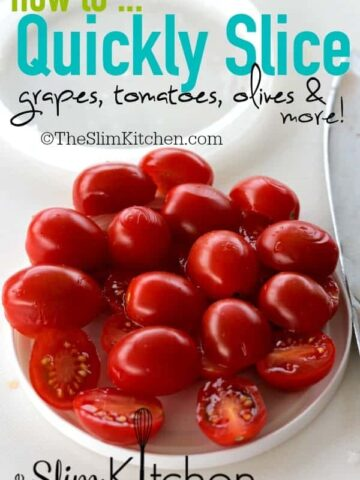 grape tomatoes on a lid