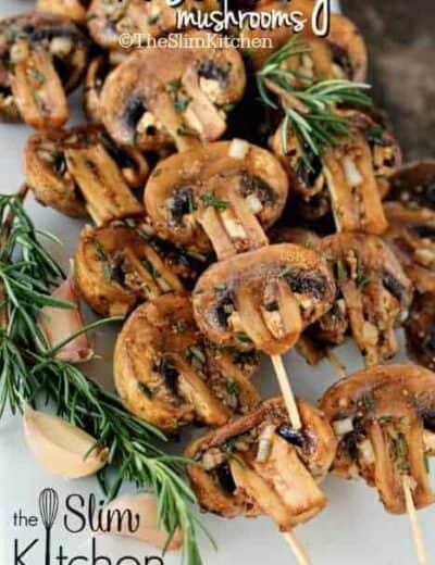 Rosemary Mushrooms on skewers