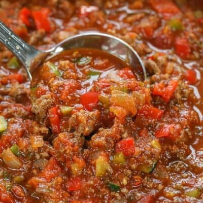 ladling Low Carb Keto Friendly Chili