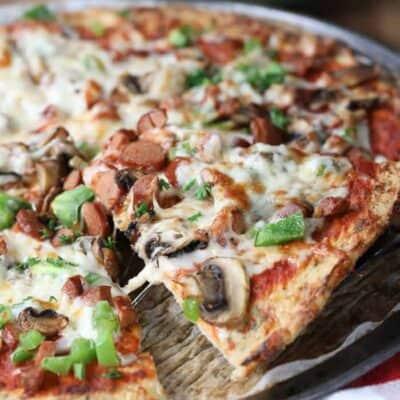 Low Carb Cauliflower Pizza Crust (keto)