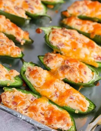 baked Low Carb Jalepeno Poppers