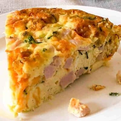 Crustless Ham and Cheese Quiche (Keto)