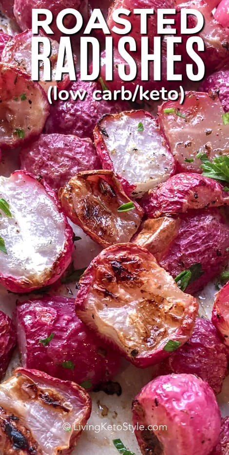 close up photo of roasted radishes