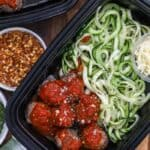 Zoodle Spaghetti and Meatballs Meal Prep