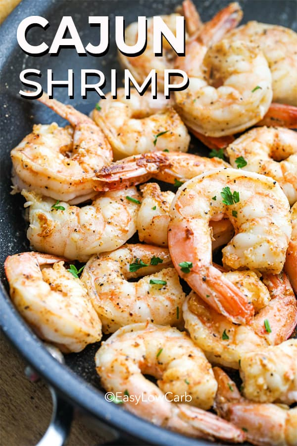 Cajun Shrimp in a pan