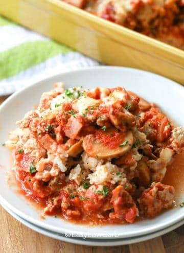 Low Carb Creamy Tomato Casserole