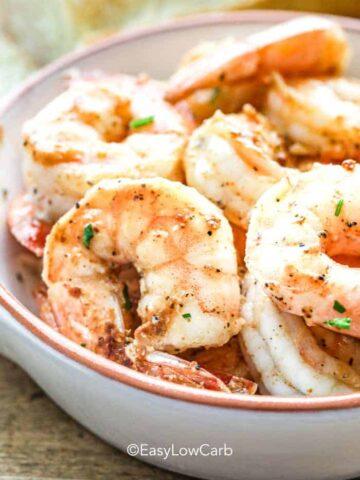a bowl of cooked Cajun Shrimp