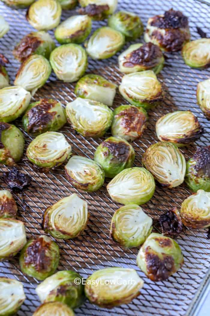 Brussel Sprouts cooked fresh from the Air Fryer