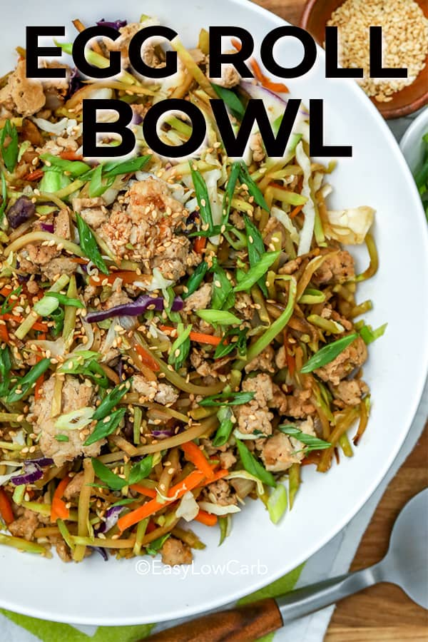 white bowl filled with egg roll bowl