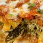 closeup of Zucchini Lasagna