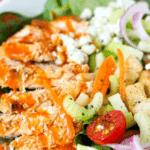 text overlay on Buffalo Chicken Salad