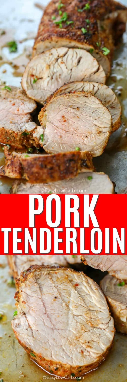 juicy pork tenderloin cut into pieces