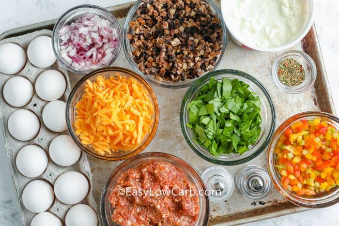ingredients to make Sausage Egg Casserole