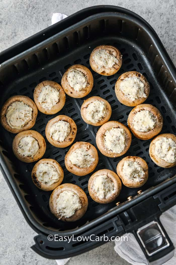 stuffed mushrooms in the air fryer to make Air Fryer Stuffed Mushrooms