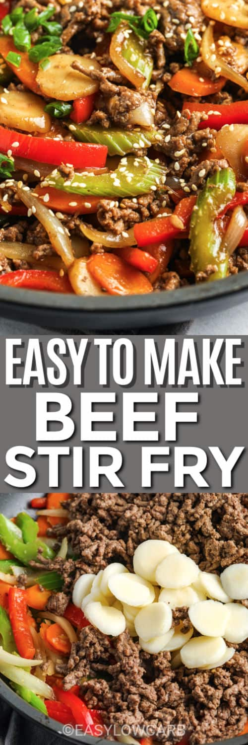 Easy Beef Stir Fry with a title