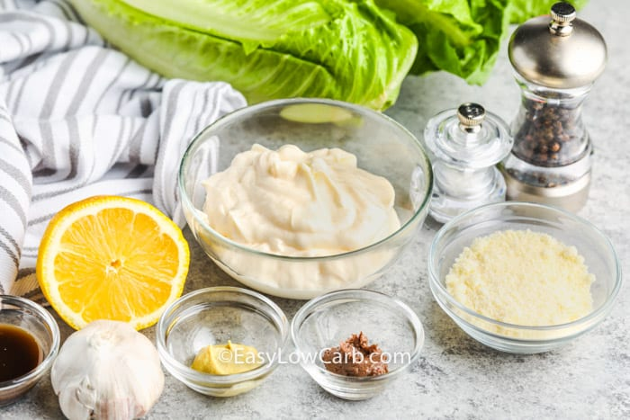 ingredients to make Easy Caesar Salad Dressing