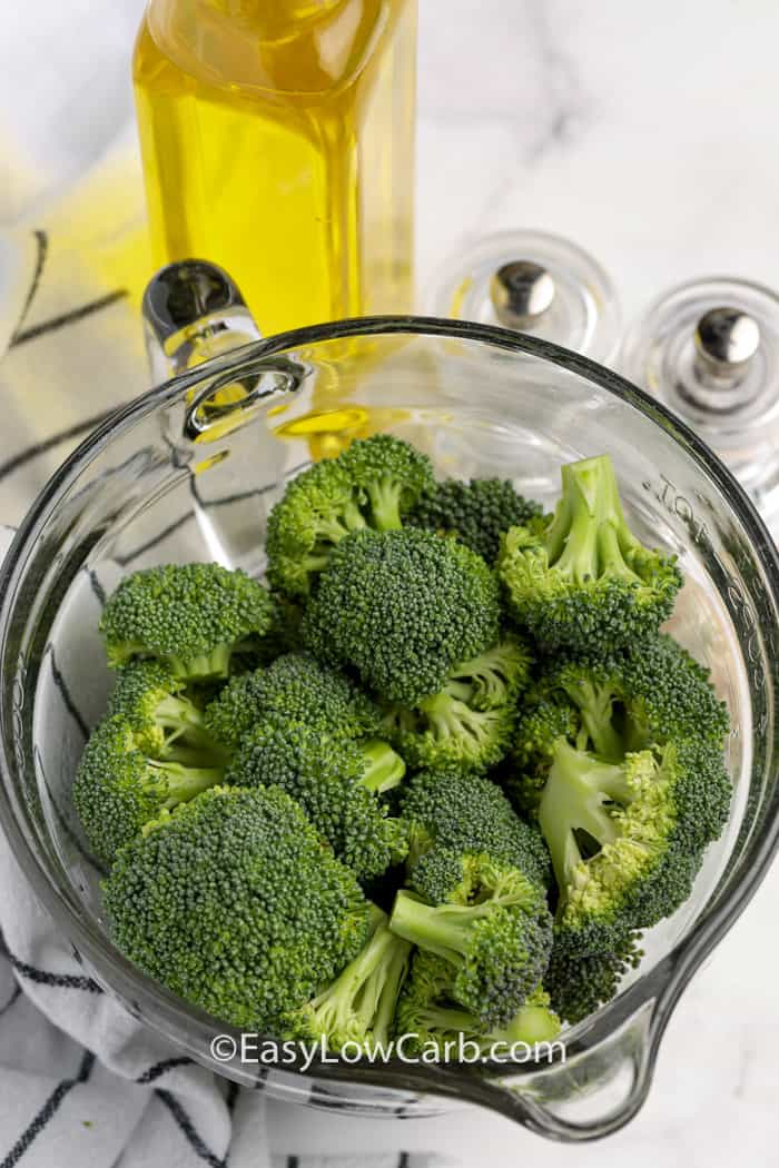ingredients to make Air Fryer Broccoli