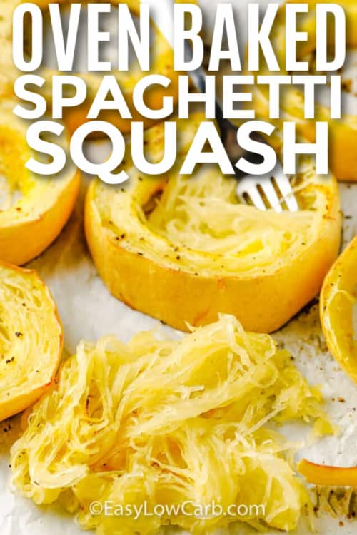 scooping squash out of squash rings, with a title.