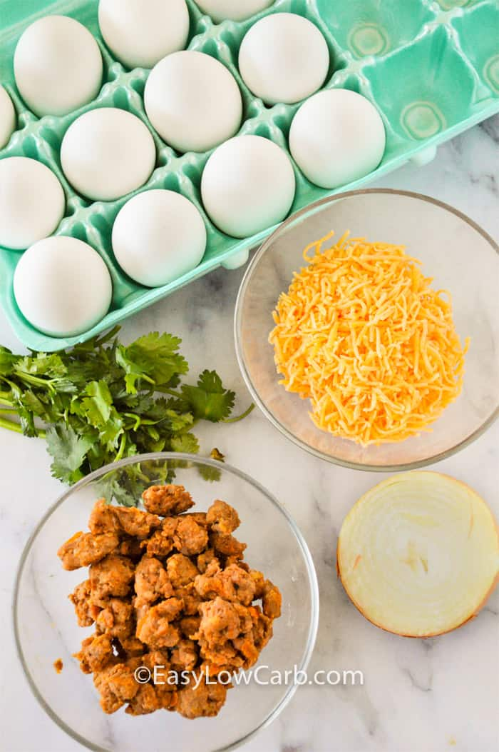 ingredients to make Cheesy Chorizo Frittata