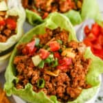 plated Taco Lettuce Wraps