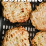 Easy Turkey Burgers in the air fryer with a title