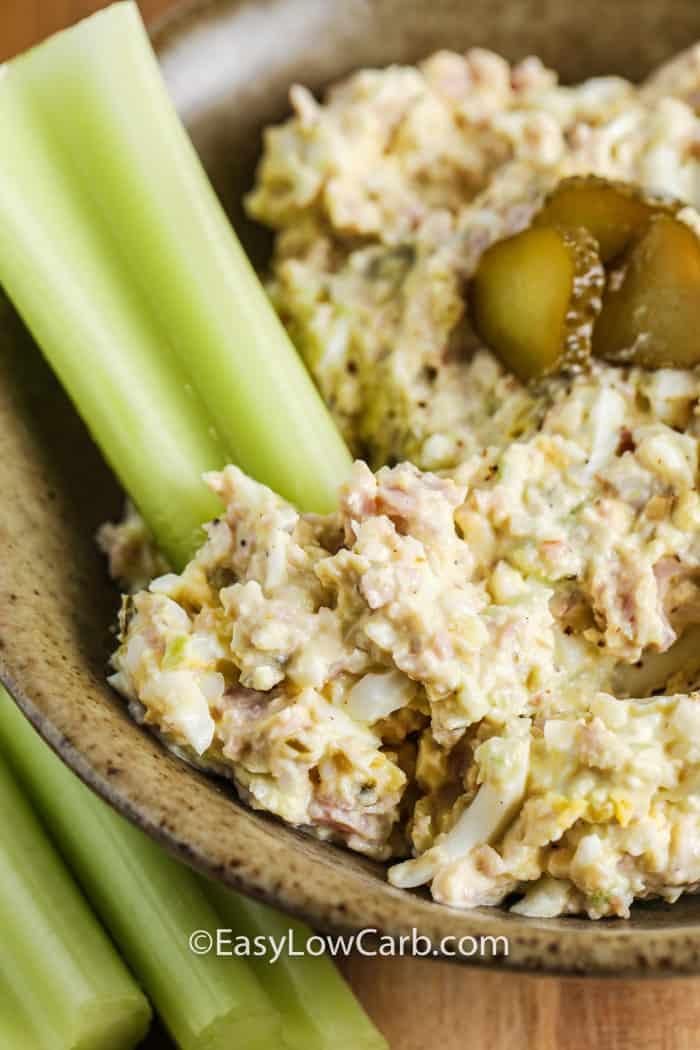 close up of Deviled Ham & Egg Salad