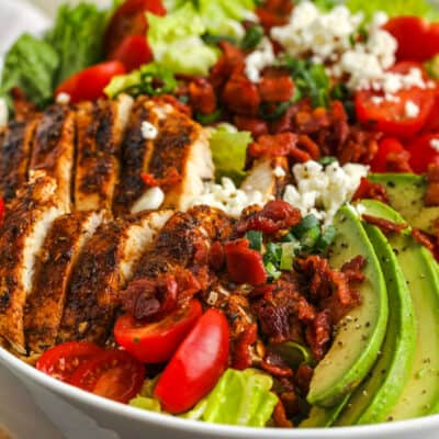 BLT Chicken Salad in a white bowl