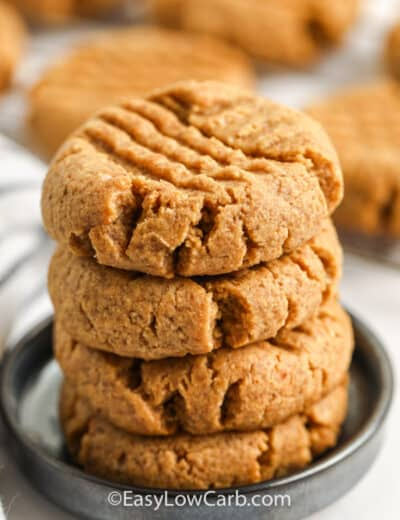stack of Keto Peanut Butter Cookies