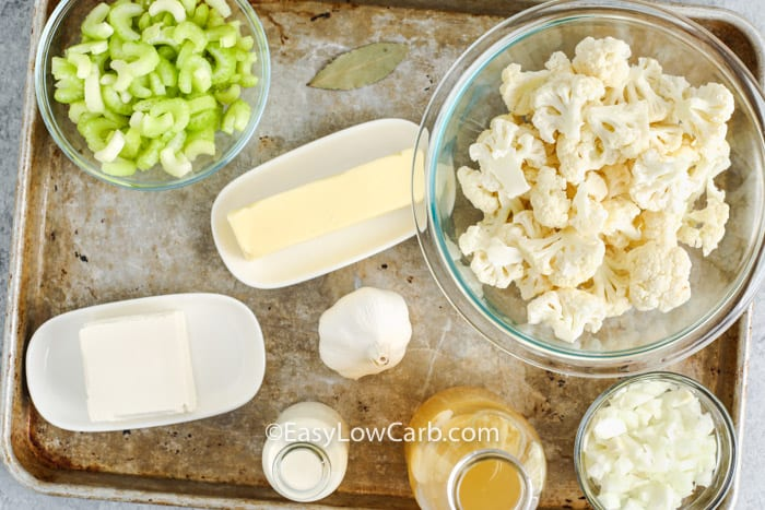 ingredients to make Low Carb Cauliflower Soup