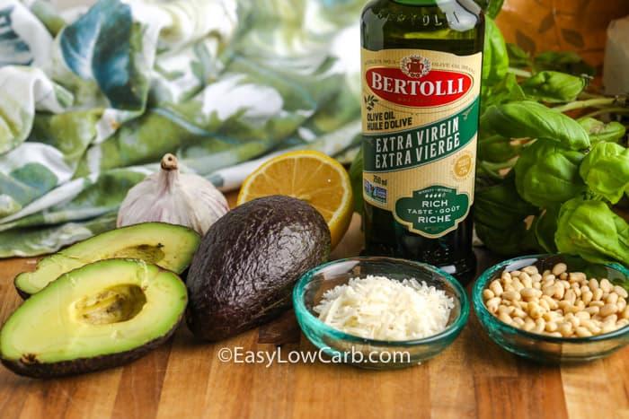 ingredients to make Avocado Pesto