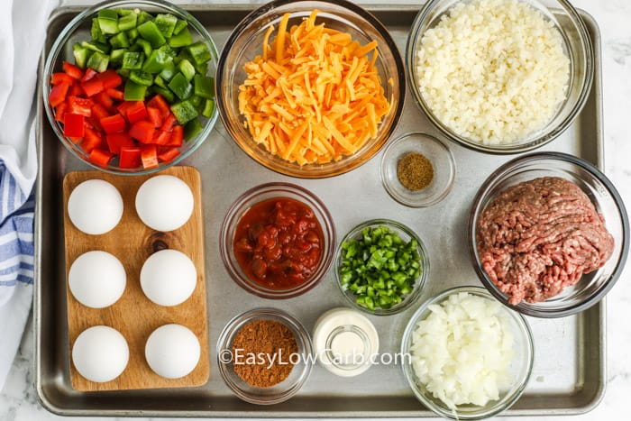 ingredients to make Low Carb Taco Casserole