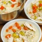 bowls of Chicken Cauliflower Rice Soup