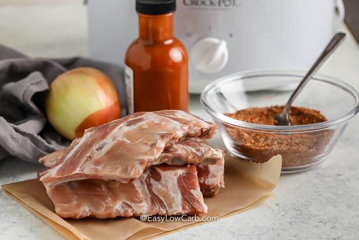 Crock Pot BBQ Ribs ingredients