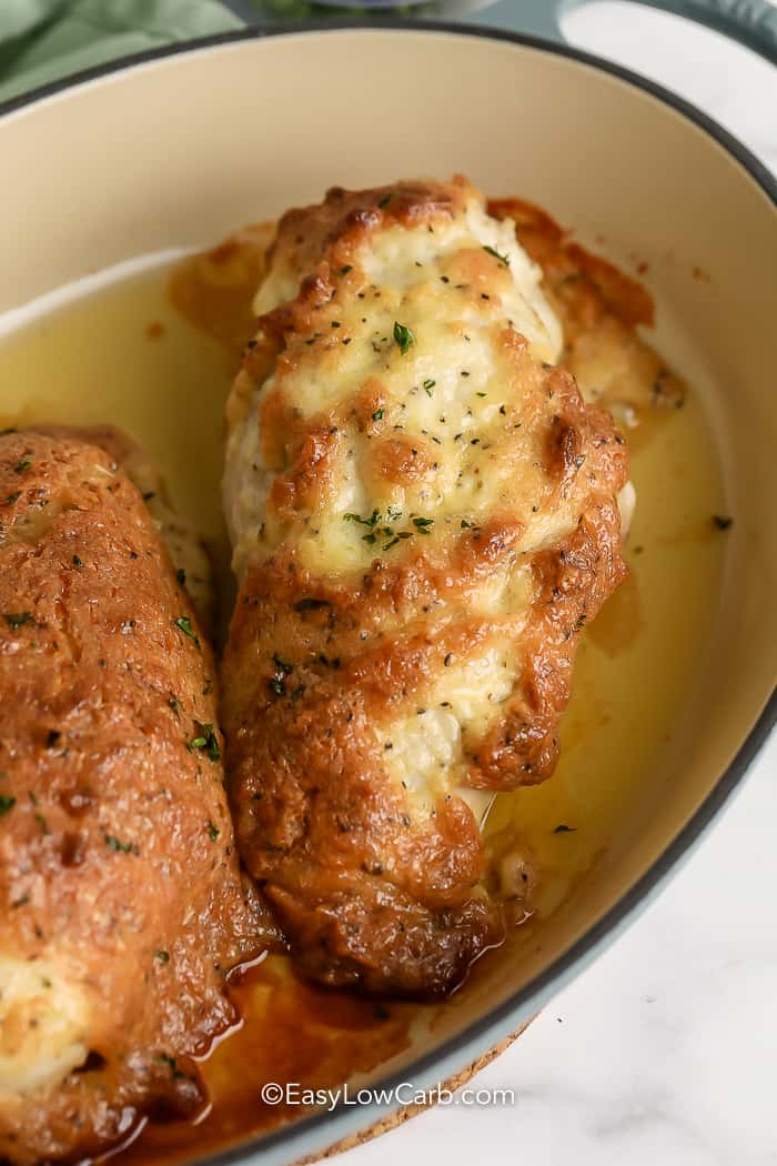 crispy Melt in Your Mouth Chicken in a dish