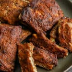 Oven Baked Ribs on a serving plate