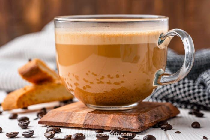 Bulletproof Coffee in a glass