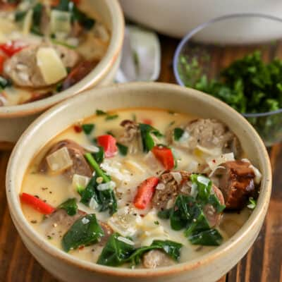 Italian Sausage Soup in a bowl