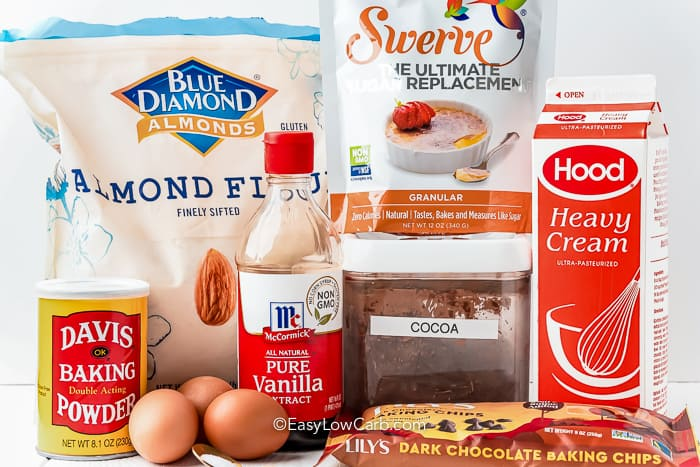 Ingredients assembled to make chocolate cupcakes